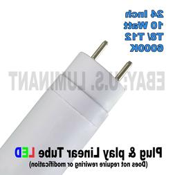 24 Inch Daylight 6000K T8 LED Relamp Fluorescent Bulbs F20T1