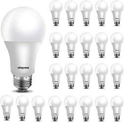 24 Pack A19 LED Light Bulb 60 Watt Equivalent Daylight 5000K