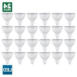 24 Pack Sunlite MR16 LED Bulb, 120V, 5 Watt, 3000K, GU5.3 Ba