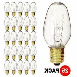 7 Watt 120V Candelabra Base Clear Night Light Bulb, 7C7