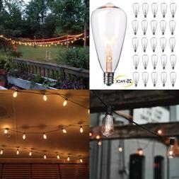 25 Pack Edison Replacement Light Bulbs 7 Watt E12 Candelabra