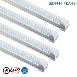 25 Pack T8 Integrated 8FT LED Tube Light Bulbs 6000K 72W 780