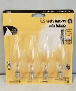 GE 25 Watt Crystal Clear Light Bulbs - 4pc.