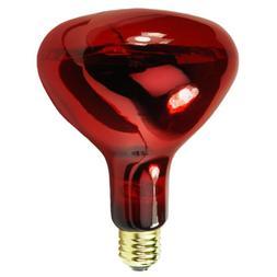 250 Watt - R40 Light Bulb - Ruby Red - Infrared Heat Lamp -
