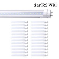 25Pack 4' Bi Pin Led Tube Light Bulbs 4Foot 18W 4FT 2 Pin Le