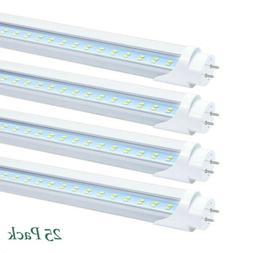 25Pack T8 4FT LED Tube Light Bulbs Bi-Pin G13 28W 3200LM 600