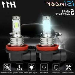 2PCS H11 H8 LED Headlight Super Bright Bulb Kit 1800LM HIGH/