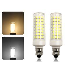 2pcs E11 LED Light bulb 9W 110V 120V Dimmable 102Led Ceramic