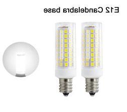 2pcs E12 Candelabra C7 LED bulb 102Led Ceramics Light 9W 110