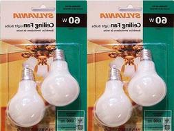 Sylvania 2pk A15 60w Ceiling Fan Light Bulbs Lot of 2
