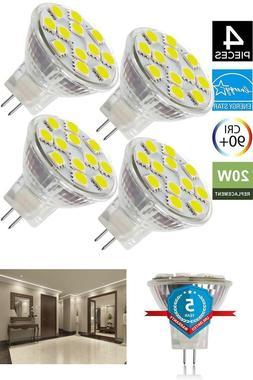 2W LED MR11 Light Bulbs, 12v 20w Halogen Replacement, GU4 Bi