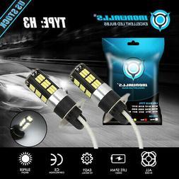 IRONWALLS H3 LED Fog Light 100W Super Bright Car Driving Lig