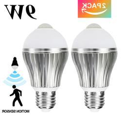 2x4x Indoor/Outdoor Motion Sensor Light Bulb 9W Smart PIR LE