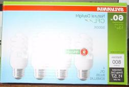 3-Sylvania CFL Natural Daylight Bulbs 60 W Equivalent Uses 1