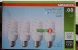 3-Sylvania CFL Natural Daylight Bulbs 60W 4-Pack-800 Lumens