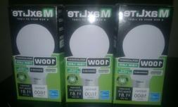 3 MAXLITE LED 100W LIGHT BULBS 4000K COOL WHITE DIMMABLE