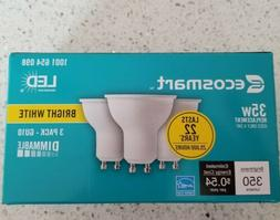 3 Pack Track light bulbs LED 35W GU10 Dimmable LED Bright Wh