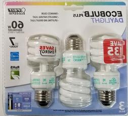 3 Pack Feit 13 Watt Daylight Medium Base Spiral CFL Light Bu