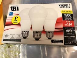 3 PACK  LED 60W - 9.5 W Warm White  A19 800 lumens FEIT Ligh