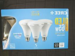 CREE 3-Pack LED BR30 Flood Light Bulbs 8W 65W- Dimmable Soft
