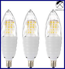 3 Pack LED Candelabra Bulb 12W Warm WHITE 3000K Candle Bulbs