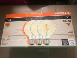 3 PACK - Sylvania Vintage LED Light Bulb, 25W Equivalent, Gl