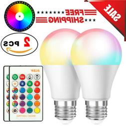 3 PCS 16 Color Changing Light Bulbs with Remote Dimmable LED
