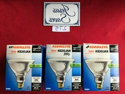 3  Sylvania Exterior Spot Bulbs, Halogen 45w Par 38 16728
