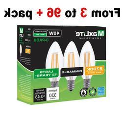 3 to 96 pack Maxlite LED Light Bulbs 40W Equivalent C12 E12