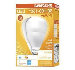 3-Way LED 50W 100W 150W Watt Equivalent using 10-15-23W Sylv