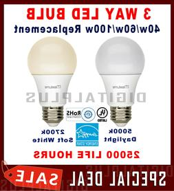 3 Way LED Bulb 40w 60w 100w Replacement 4/8/14W Daylight 500