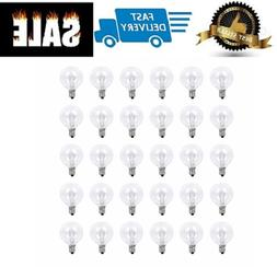 30 Pack 25 Watt Bulbs Replacements for Scentsy Plug-In Night