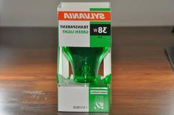 SYLVANIA 38 Watt  A19Transparent Indoor Outdoor Green Light