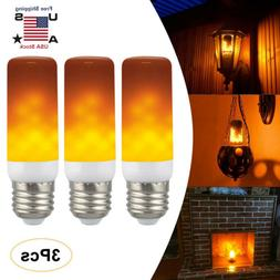 3Pack E27 LED Flame Effect Simulated Flicker Nature Fire Bul