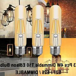 3Pcs T10 Tubular Edison LED Light Bulb 40 Watt Incandescent