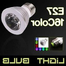3W E27 16 Color RGB Magic LED Spot Light Bulb Lamp Remote Co