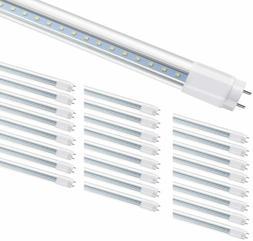 4-25 Pack 18W 4FT Glass LED Tube Light Bulbs G13 Bi-Pin 5000