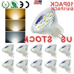 4/6/10 PACK LED MR11 Light Bulbs 3W/5W AC/DC12V-24V GU4 Bi-P