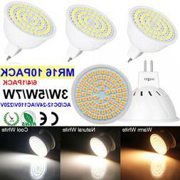 MR16 LED Light Bulbs 3W/5W/7W = 30W-70W Halogen Warm/Natural