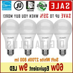 4 bulbs 60w replacement 9w led light