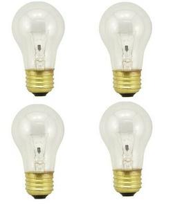 4 BULBS FOR GE 40 Watt Appliance Light Bulb Oven Refrigerato