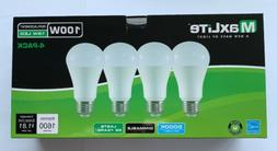4 Maxlite Dimmable LED Daylight Light Bulb 15-Watt 100 Watt