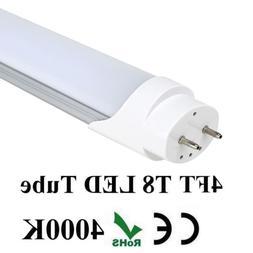 4 FT 18W T8 LED Tube Light Lamp G13 Bulbs Double-End Power 4