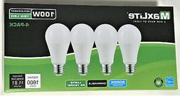 MAXLITE 4 Light Bulbs 15W LED Same As 100W Dimmable Daylight