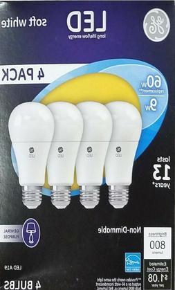 4 GE Lighting LED Softwhite 60w Replacement  2700K < LEDA19