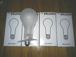 4 LOT ROUGH SERVICE 200watt PS30 FROSTED 120V INCANDESCENT B