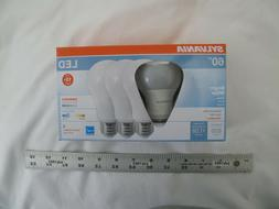 NEW Sylvania 60w LED A19 Light Bulbs Bright White 3500K - D