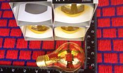 4 of NEW yellow A19 sign 25w OUTDOOR 25 WATT 130V transparen