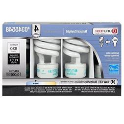 Utilitech 4-Pack 13-Watt  Spiral Medium Base Daylight  CFL B