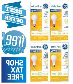 4 Pack GE 3-Way Light Bulbs 50/100/150-Watt Soft White Lamp